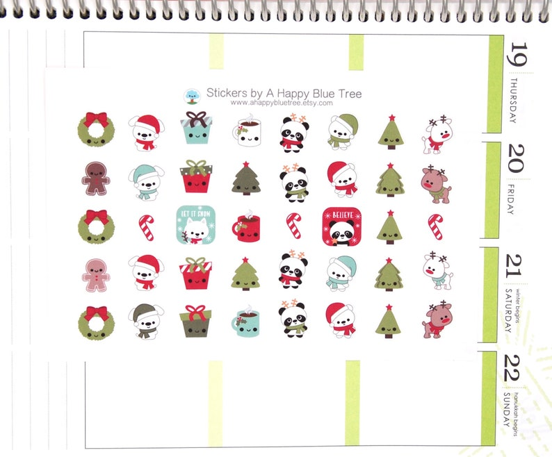 Happy Christmas Friends Themed Stickers Erin Condren Life image 0