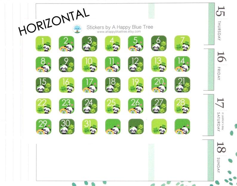 Happy St Paddy's Day Panda Date Dots Covers HORIZONTAL image 0