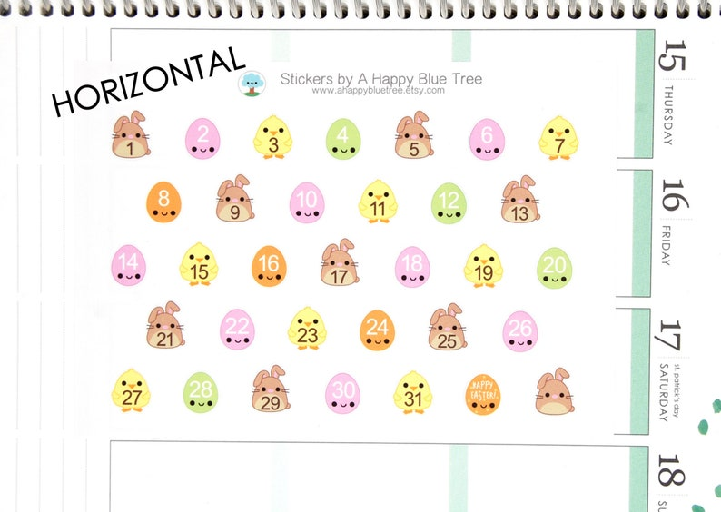 Happy Chicks Bunnies Eggs Date Dots Covers HORIZONTAL Erin image 0