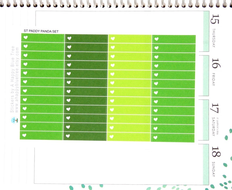 Colorful Headers/Thin Labels with a Heart ST PADDY'S image 0
