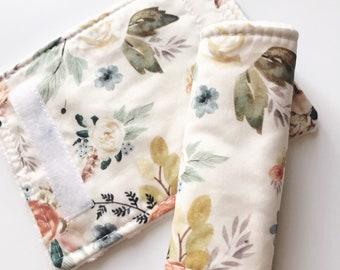 Romantic Floral Car Seat Strap Covers Straps Faux Fur