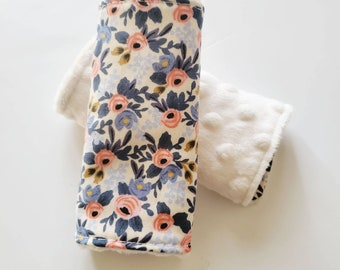 Rifle Paper Floral Car Seat Strap Covers, Car Seat Straps, Faux Fur, Floral Car Strap Covers, Car Seat Accessories