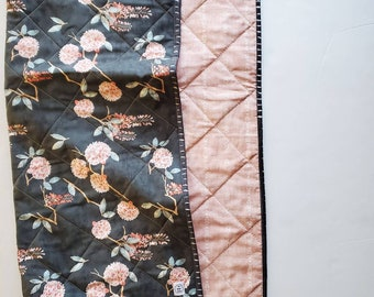 Romantic Floral Baby Quilt, Floral Baby Quilt, Floral Baby Bedding, Baby Girl Quilt, Baby Quilt For Sale, Boho Nursery, Handmade quilt