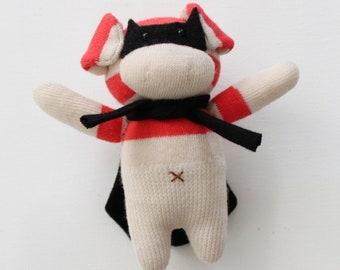 Super PIGGY Plush, Handmade Piggy Friend, Super Piggy TOY Plush, Stuffed Toy, Piggy Brooch, Stuffed Pig Toy,Pig Miniature doll