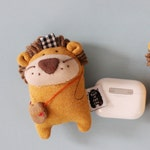 AirPods Pro Case, AirPods Pro Holder, AirPods Pro Cover, Lion Keychain, Lion Holiday decor, AirPods Pro Wireless Earbuds