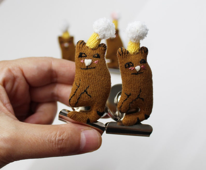 Cats Refrigerator Magnets Cats Handmade Toy Magnets Cats image 0