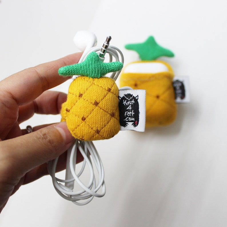 Pineapple Earbuds organizer Pineapple Halloween Cord image 0