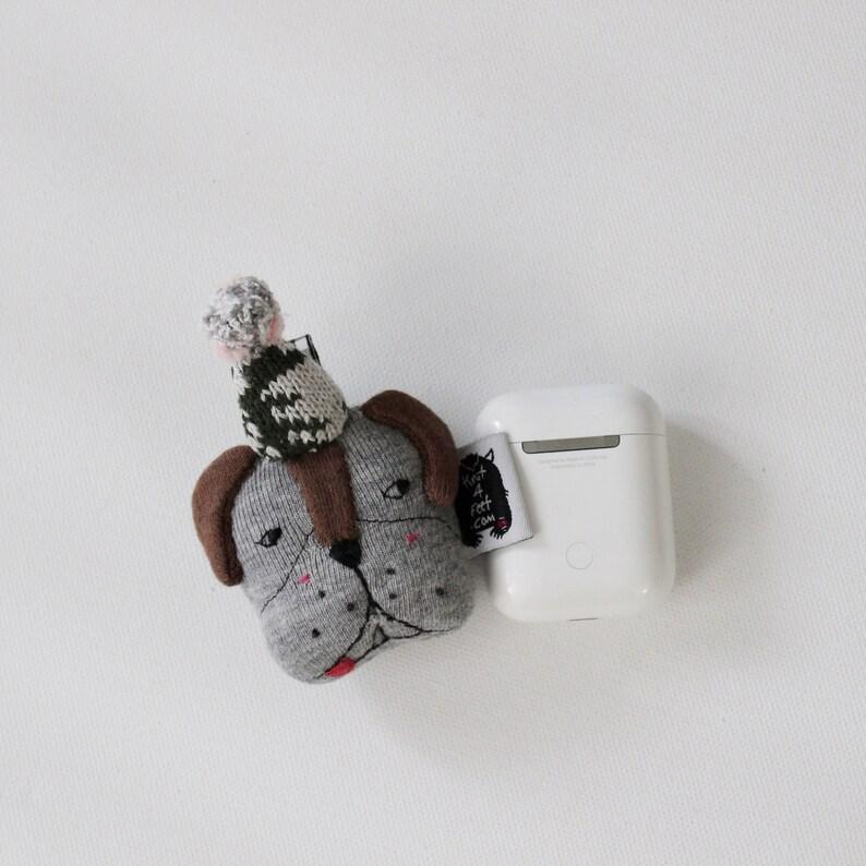 Handmade a Cute Animal Face Earphone Case Animal Face AirPods image 0