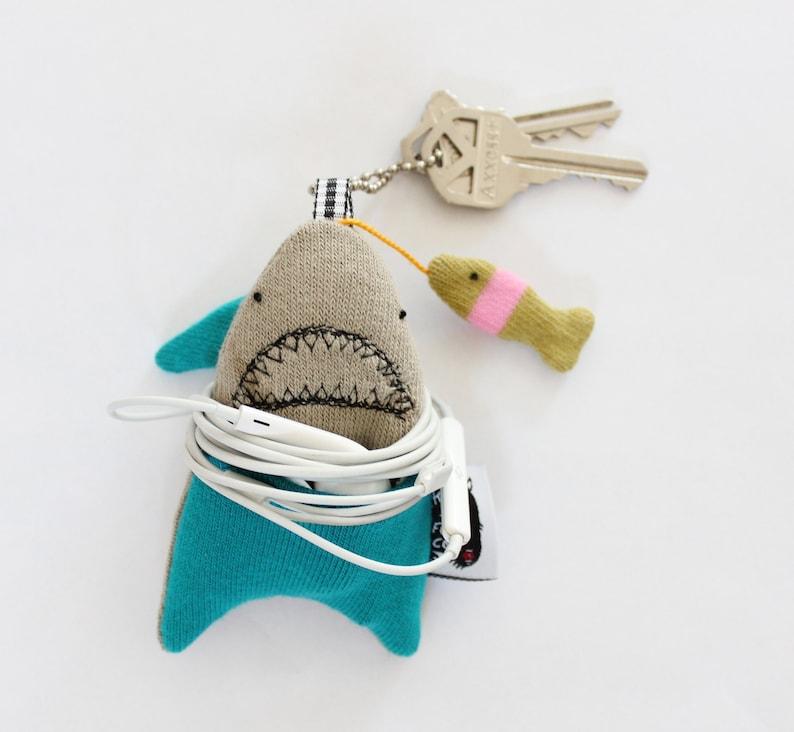 FISH ARE FRIENDS Shark Soft Knit Earphone Case Shark Home image 0
