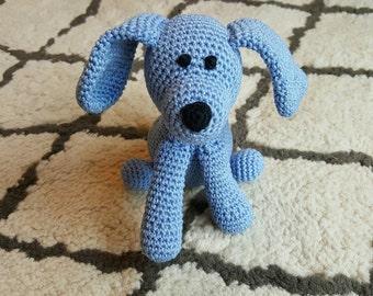 Crochet Dog Plush Toy - Amigurumi puppy-Organic cotton Baby toy- Crib Toy