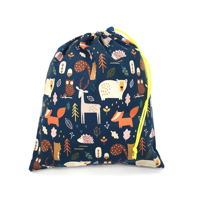 baby-reusable bag zero waste Oeko Tex cloth travel baggift bag flowers and pets