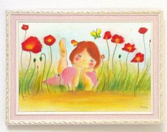 Poppy Girl - A4 Poster Print