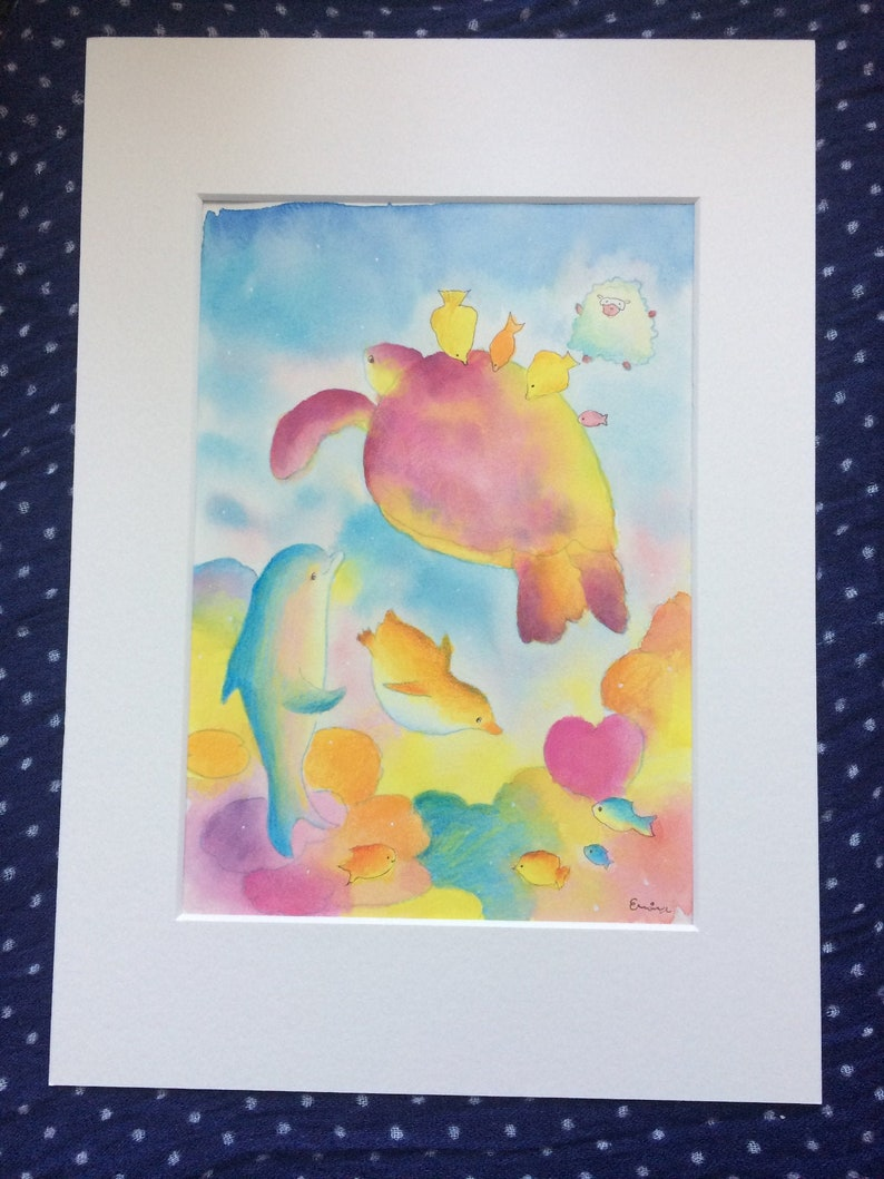 Harmony  調和  Colourful coral reef  Watercolour and pencil  image 0