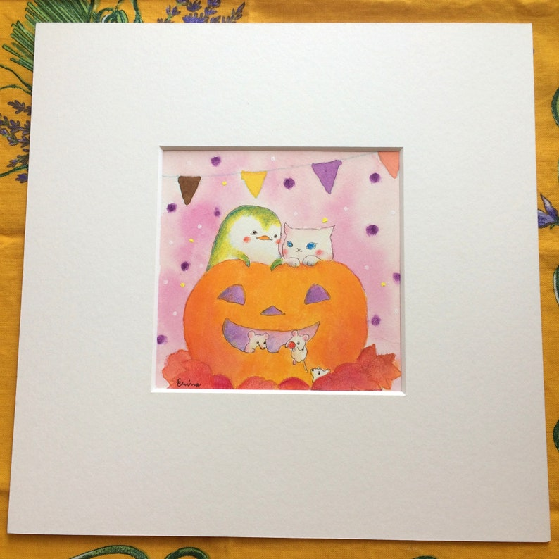 Halloween date  ハロウィンデート   cat and penguin halloween  image 0