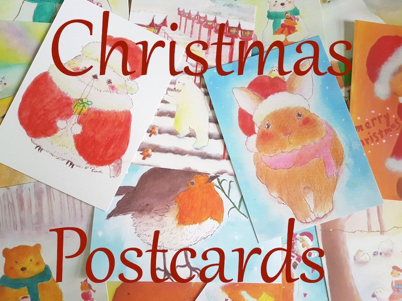 Erina's Christmas Art Postcards set of 4  choose your image 0
