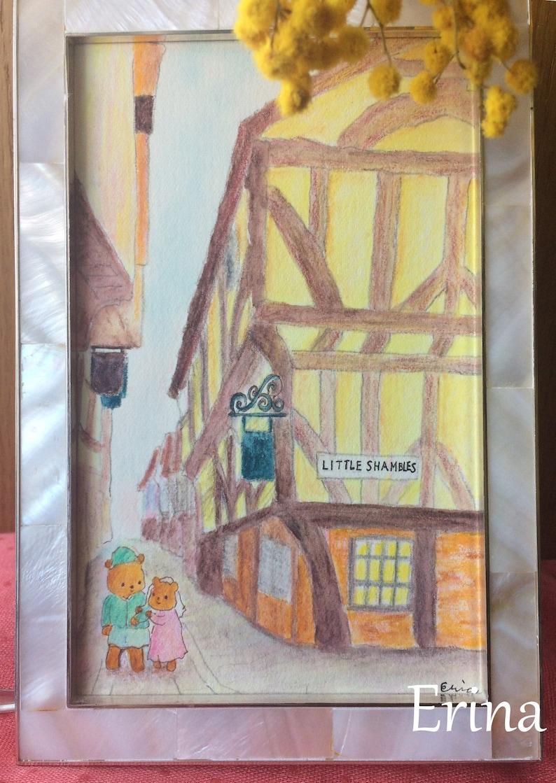 Little Shambles  リトルシャンブルズ  York street scene  Watercolour image 0