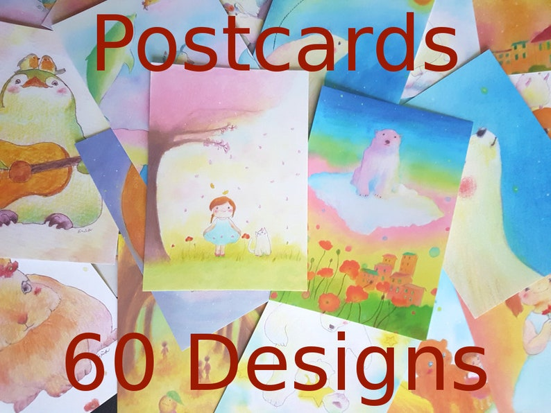 Art Postcard sets  60 Designs by Erina  choose your own image 0