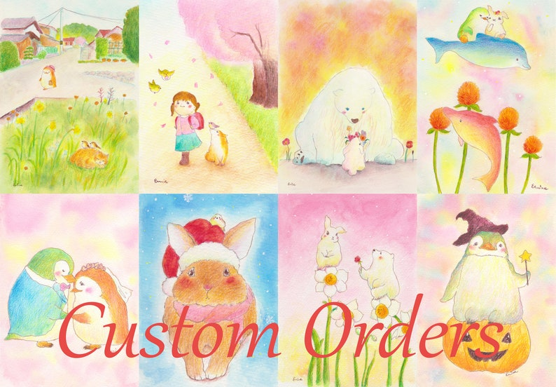 Painting to order  custom orders  Watercolour and pencil  image 0