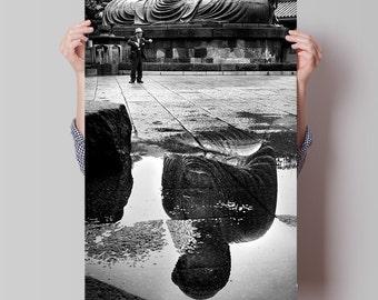 Fine Art Photography of Big Buddha of Kamakura, Japan. Wall Art Prints for Home Decoration. Photographic Giclee Print of Street Photography