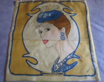 Pillow cover removable silk women fascinator