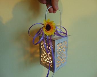 Set of 6 White Mini Lanterns,Wedding Candle Holders, Rustic Wedding Decor,Wedding Centerpiece ,Moroccan Mini Lanterns ,Rustic Lanterns,decor