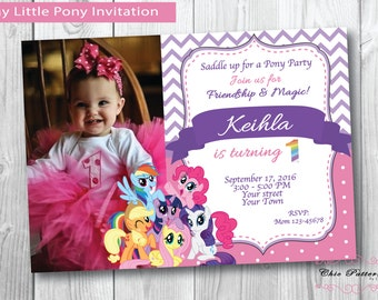 My Little Pony Invitation Printable Birthday Party Invite Digital Personalized
