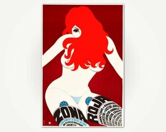 Zona Roja Vintage Movie Poster Print - Movie Poster Art from Mexico