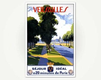 Palace of Versailles Travel Poster Print - Versailles, France - Séjour idéal à 20 minutes de Paris (Ideal Stay 20 minutes from Paris)