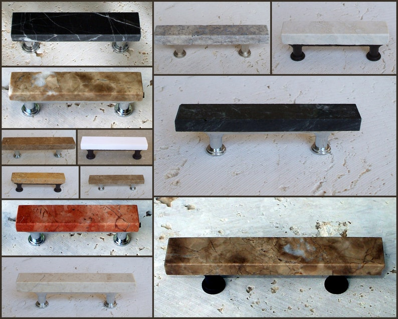 5 Inch Marble /& Travertine Cabinet Pull