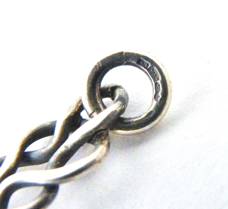 Victorian style celtic knot chain sterling silver