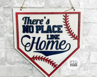theres no place like home- baseball season- home decor- wall decor- free shipping