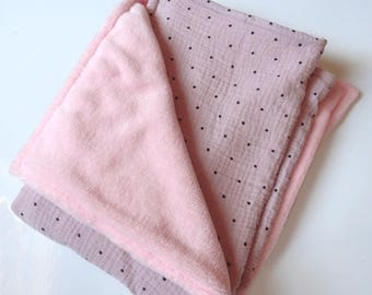 Cover, quilt, blanket, Playmat, cloth diaper baby, baby blanket, pink blanket, old pink blanket, baby bed linen