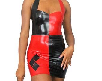 436191a9d5e84 Harley Quinn Latex Cosplay Dress