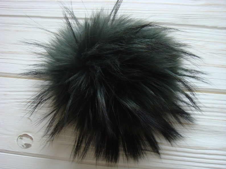 eed7bb37957 Genuine Natural Real Green Raccoon Fur Pom Pom