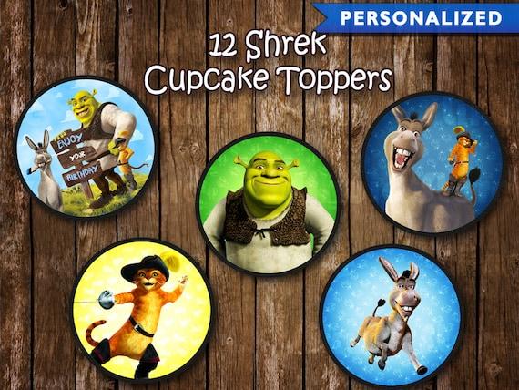 Shrek Cupcake Toppers Shrek Birthday Decorations Shrek Etsy