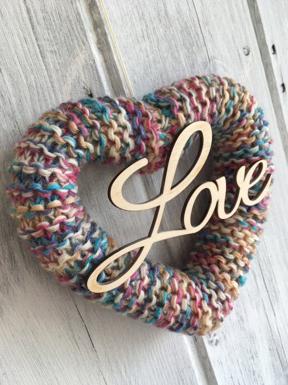 Knitted Heart Love