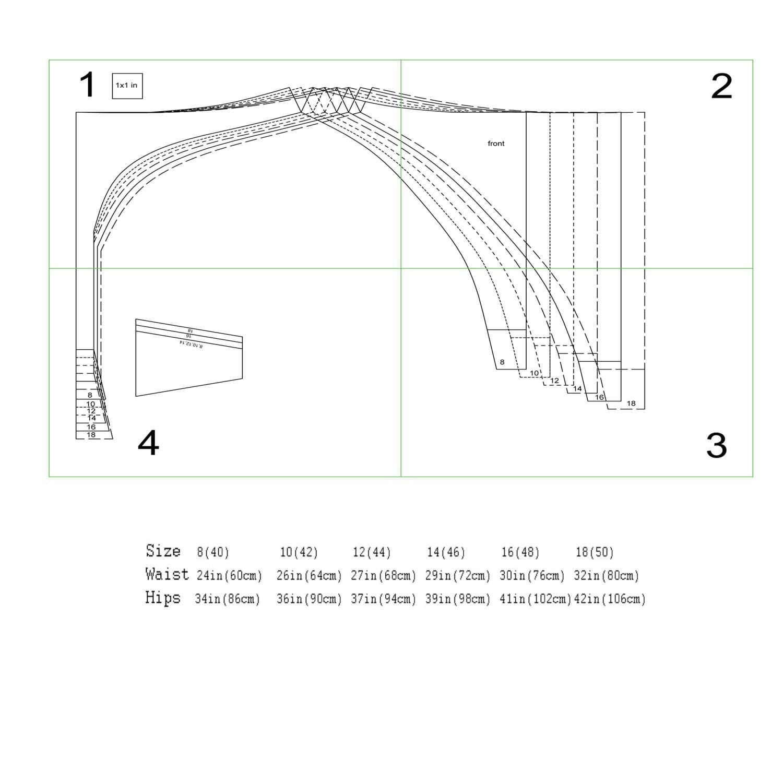 Sewing Pattern high waist thong, string, Pattern Lingerie, Pattern ...