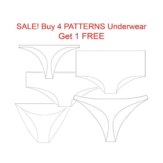 SALE lingerie patterns Buy 4 Pattern underwear Get 1 FREE | Etsy