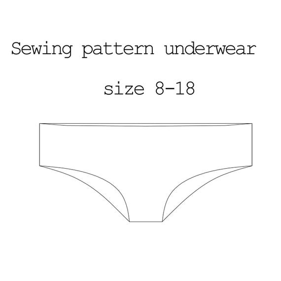 Sewing Pattern Underwear PDF Pattern Lingerie Pattern Pants Etsy Unique Pants Sewing Pattern