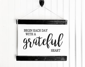 Begin Each Day With A Grateful Heart, Inspirational Quote, Be Grateful, Gratitude Each Day, Teach Gratitude