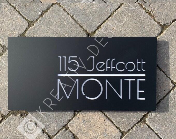 House Sign Door Number Rectangle  300mm x 200mm x 5mm Original and Unique Laser Cut Bespoke Laser Cut Design