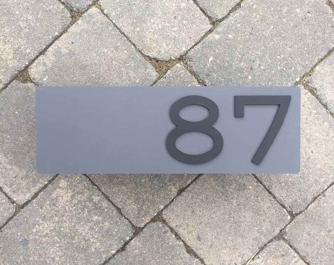 3D Modern House Number Door Sign Laser Cut Matte Acrylic With Invisible Floating Wall Fixings