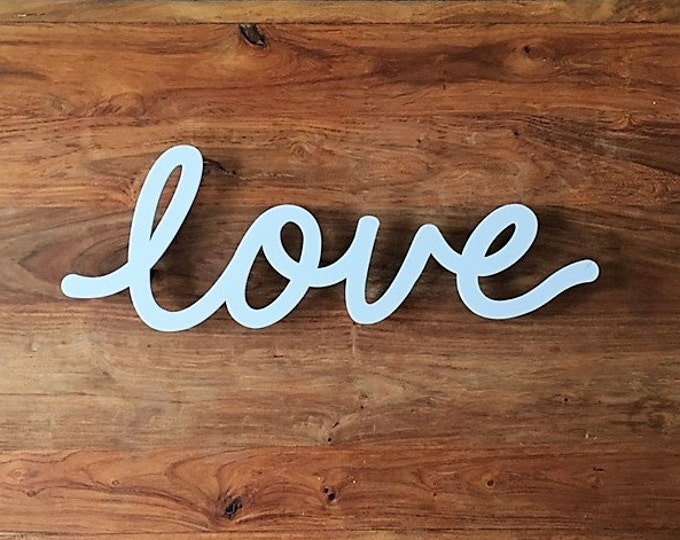 Large Valentines Day Love Wall Sign - Unique Laser Cut Floating Wall Name Artwork in a range of Contemporary Colours and Designs