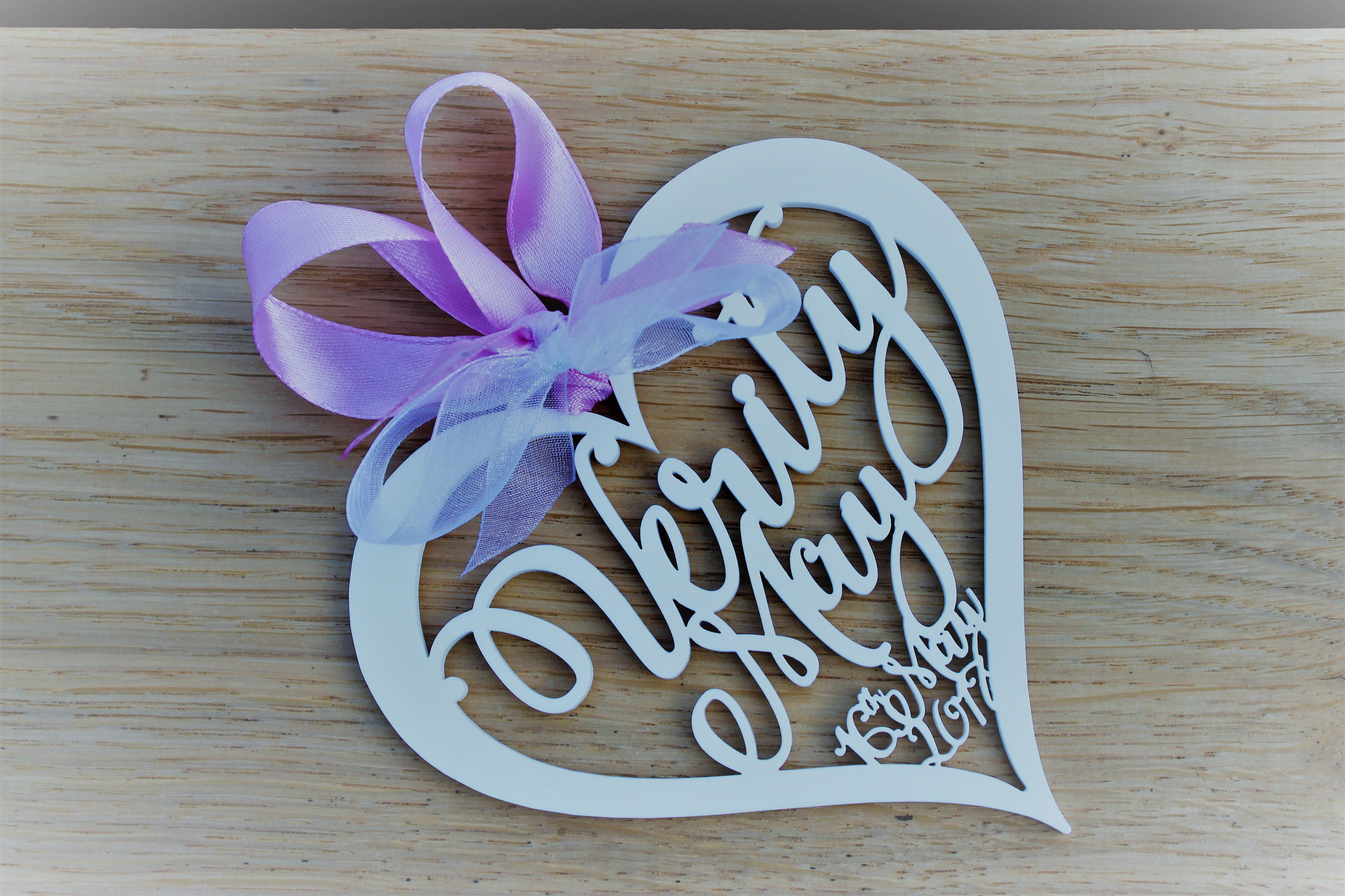 New Baby /Christening / Naming Day Gift, Personalised Laser Cut Hanging Sign / Wall Decoration