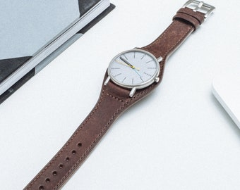 Brown Full Bund WATCH BAND, Bund Watch Strap, Replacement Bund Watchband, Designer bund watch band.