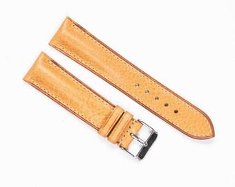 Calf leather WATCH BAND.  21mm 17mm 18mm 19mm 20mm Custom size watch strap, Handmade