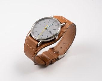 Full bund watch band, Premium Goat leather watch strap for 18mm, 19mm, 20mm, 21mm, 22mm, 16mm, Vintage watchband, Tudor style watchstrap