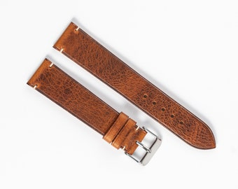 Waxy leather watch band for 16mm, 17mm, 18mm, 19mm, 20mm, 21mm, 22mm 24mm Watch strap