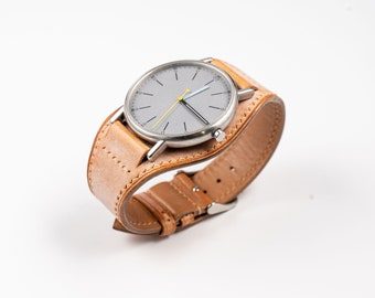 Full BUND Watch Band, Leather Cuff watch strap, for 16mm 17mm, 18mm, 19mm, 20mm, 21mm, 22mm, 24mm