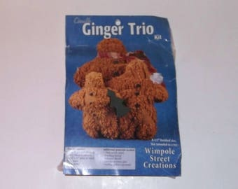 Chenille 3 Gingerbread Man Plush Wimpole Street Craft Kit Sealed